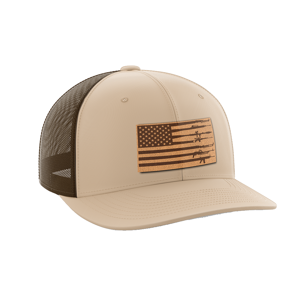Rifle Flag Leather Patch Hat - Crusader Outlet