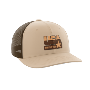 USA Drinking Team Leather Patch Hat - Crusader Outlet