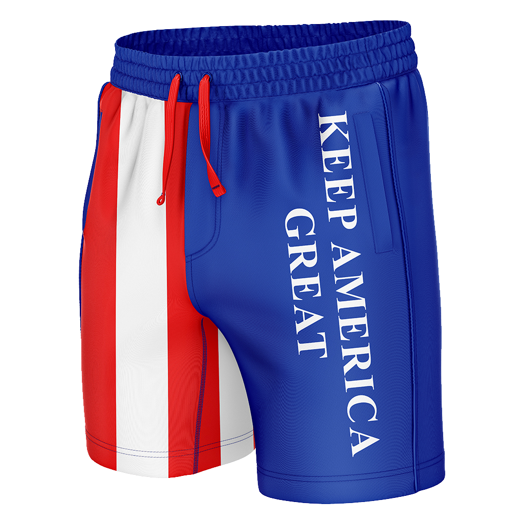 Keep America Great American Flag Swim Trunks - Crusader Outlet