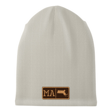 Load image into Gallery viewer, Massachusetts Leather Patch Homegrown Beanie