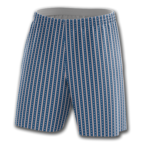 Blue Vertical Star Shorts - Crusader Outlet