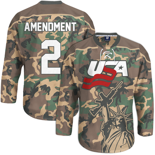 Camo 2nd Amendment Hockey Jersey - Crusader Outlet