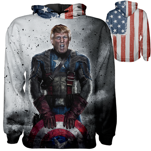 Captain Trump Hoodie - Crusader Outlet