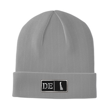 Load image into Gallery viewer, Delaware Black Leather Patch Homegrown Beanie