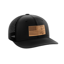 Load image into Gallery viewer, Rifle Flag Leather Patch Hat - Crusader Outlet