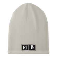 Load image into Gallery viewer, Rhode Island Black Leather Patch Homegrown Beanie