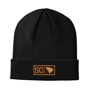 South Carolina Leather Patch Homegrown Beanie