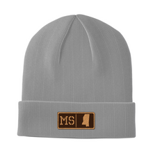 Load image into Gallery viewer, Mississippi Leather Patch Homegrown Beanie