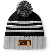 Load image into Gallery viewer, Georgia Leather Patch Homegrown Beanie