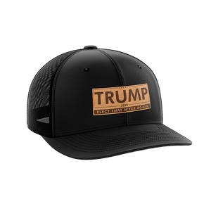 Trump-Elect That M'fer Again Leather Patch Hat - Crusader Outlet