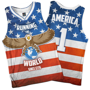 Running The World Since 1776 Basketball Jersey - Crusader Outlet