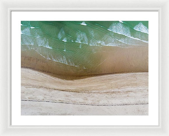 Cape Cod Beach Abstract - Framed Print