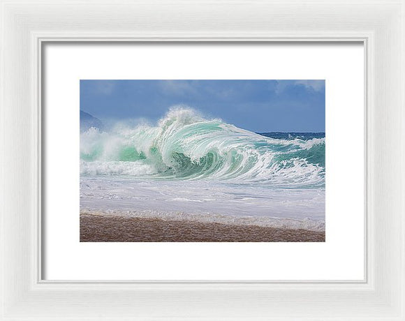 Hawaiian Shorebreak - Framed Print