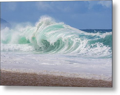 Hawaiian Shorebreak - Metal Print