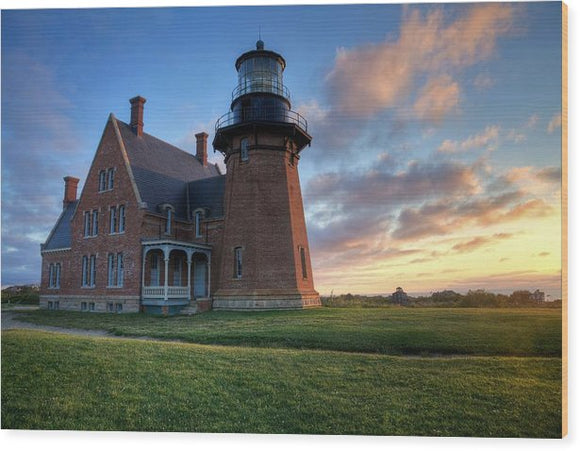 Southeast Light Sunrise - Wood Print