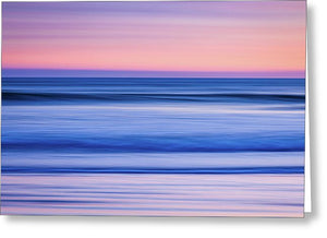 Sunset Abstract - Greeting Card