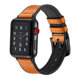Pulseira Apple Watch Couro & Silicone
