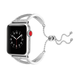 Pulseira Apple Watch Aço & Cristal Diamond