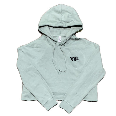 Whiskey Bent Hat Co-Cropped Hoodie Sage