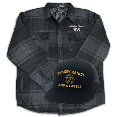 Whiskey Bent Hat Co-Flannel Bundle // Black