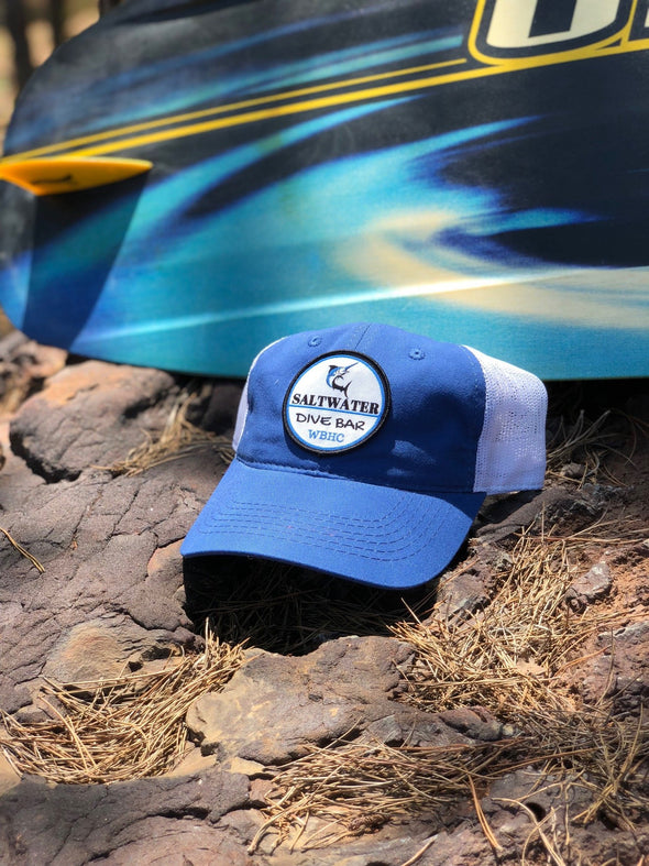 Whiskey Bent Hat Co-Saltwater Blue/White Unstructured