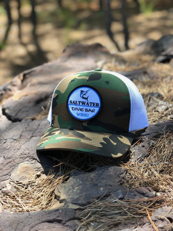 Whiskey Bent Hat Co-Saltwater Camo/White