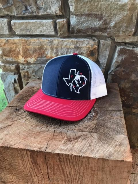 Whiskey Bent Hat Co-Texas Duck Red/White/Blue