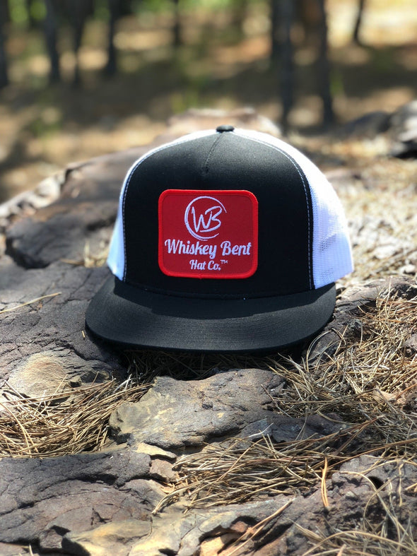Whiskey Bent Hat Co-WB Original Black/White Trucker