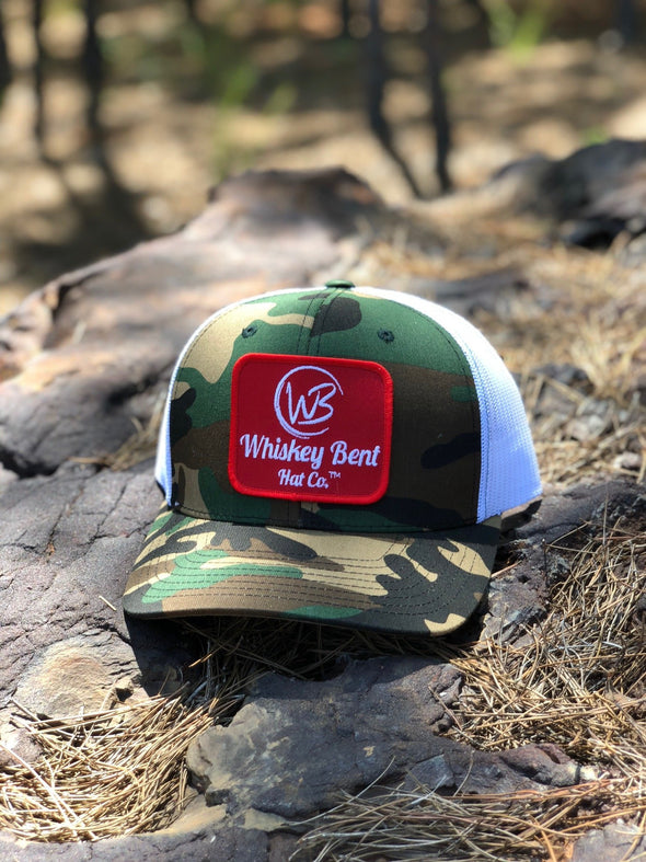 Whiskey Bent Hat Co-WB Original Camo/White