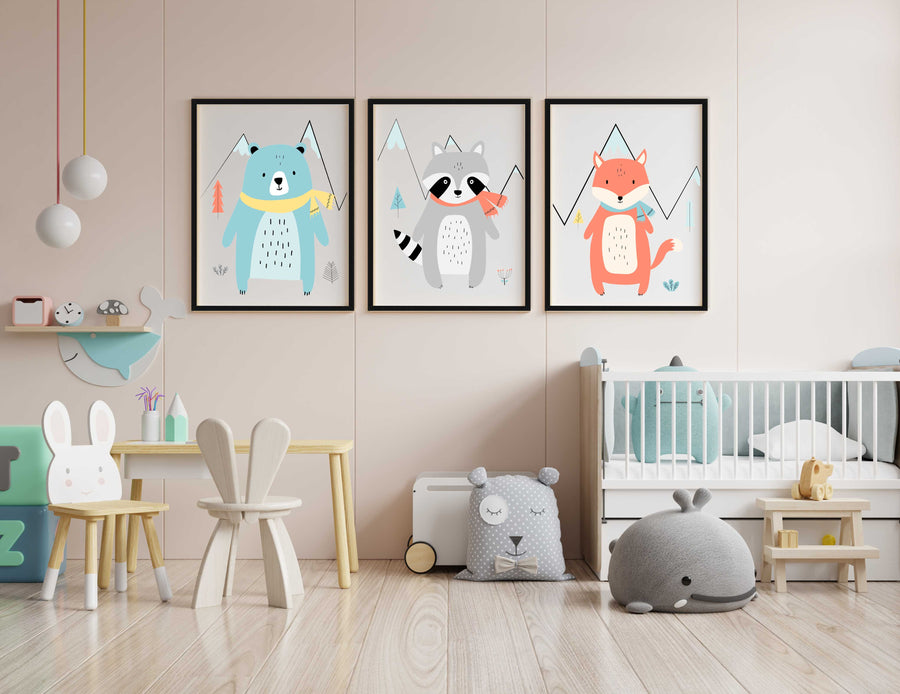 Scandinavian Animal Nursery Prints