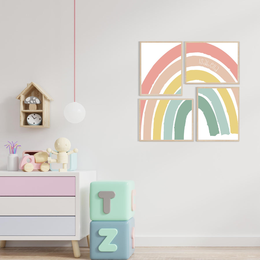 Rainbow Nursery Name Set