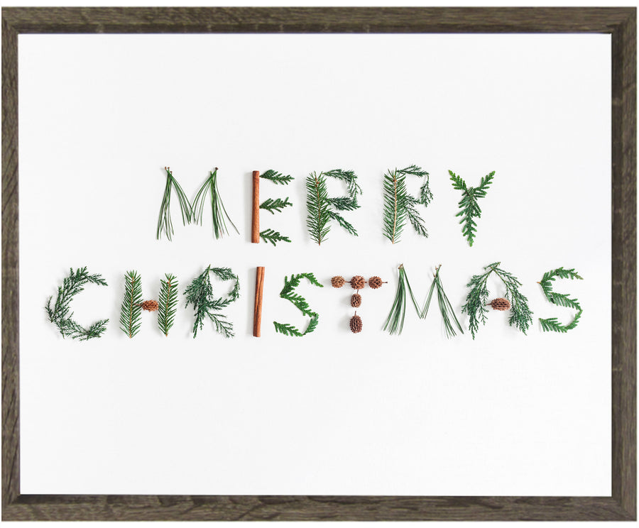 MERRY CHRISTMAS FRAMED
