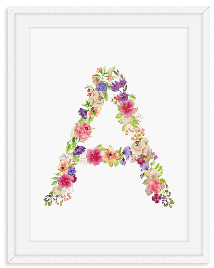 Floral Nursery Letters