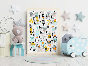 Alphabet Nursery Decor - Digital Download