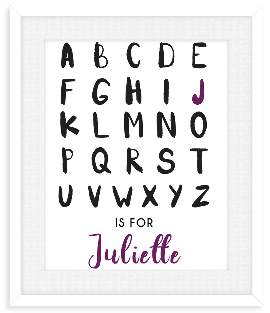 PERSONALIZED ALPHABET NURSERY DECOR