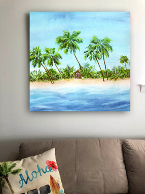 Beach Shack Wall Art - Tropical Wall Art