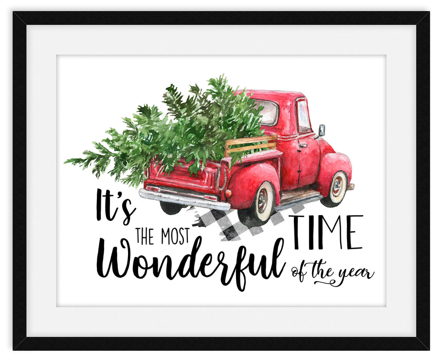Christmas Truck Wall Art