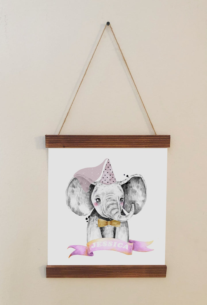 Elephant Nursery Scroll