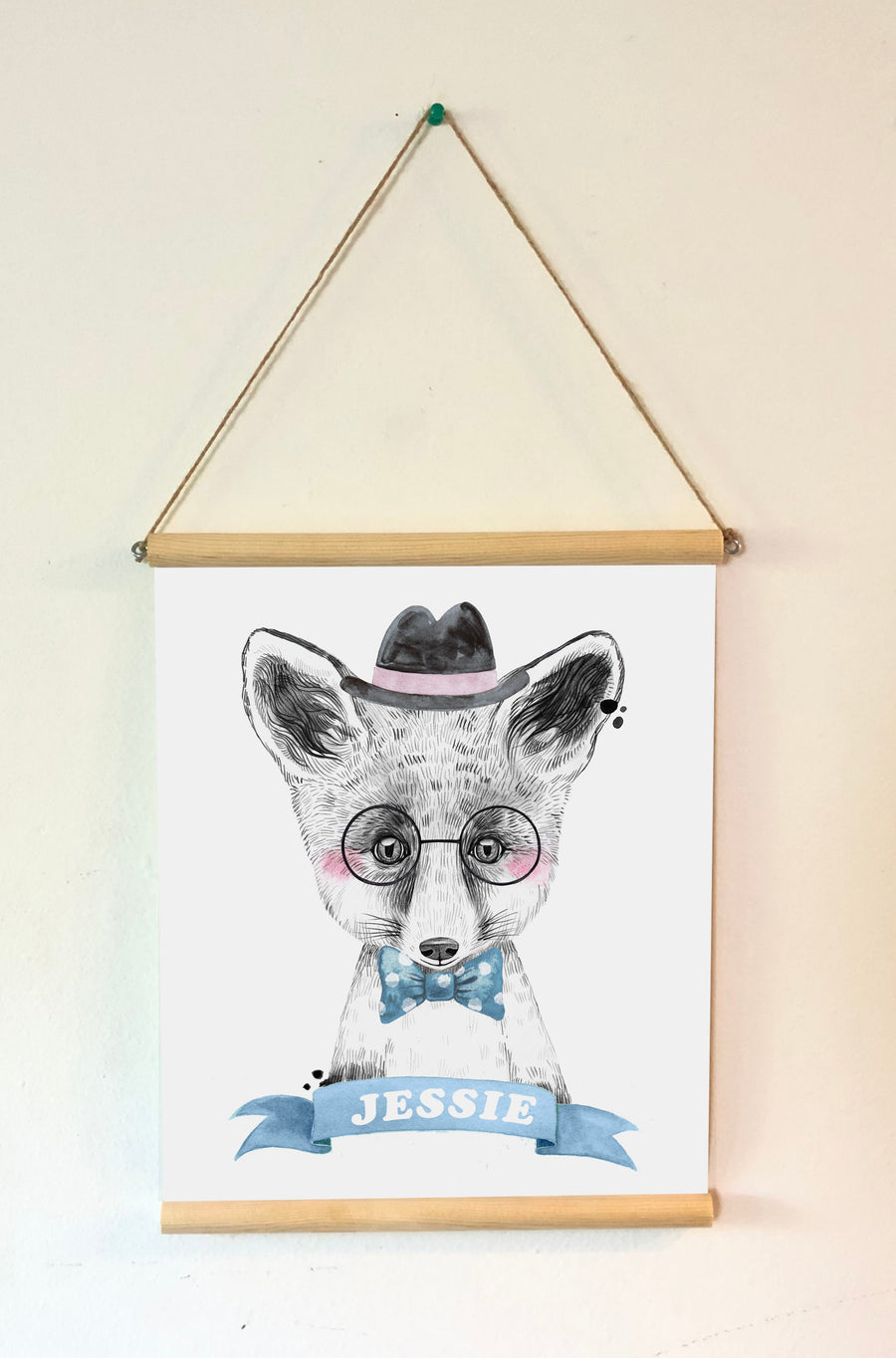 Framed Animal Nursery Decor - FOX