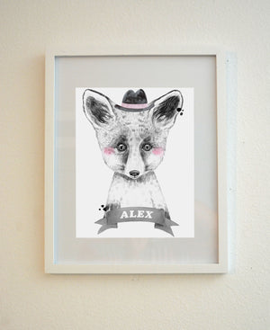 Animal Nursery Decor Fox Baby room