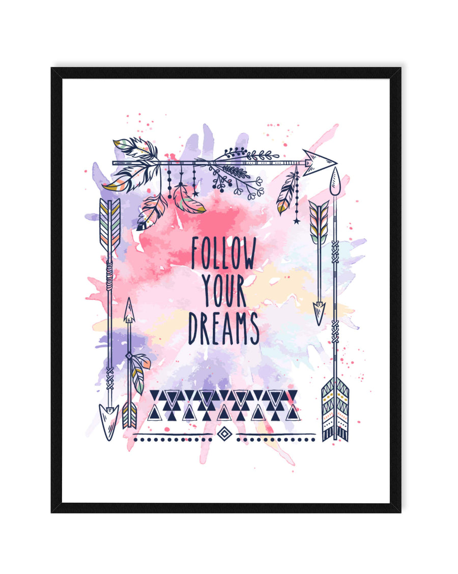 Follow Your Dreams Nursery Print