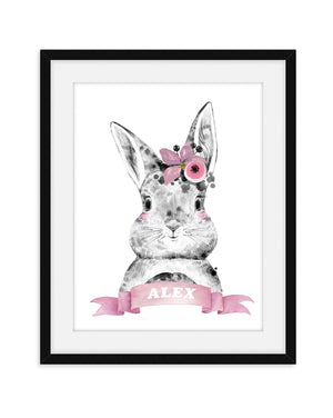 NURSERY NAME BUNNY PRINT