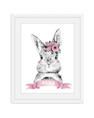 Rabbit Nursery Print