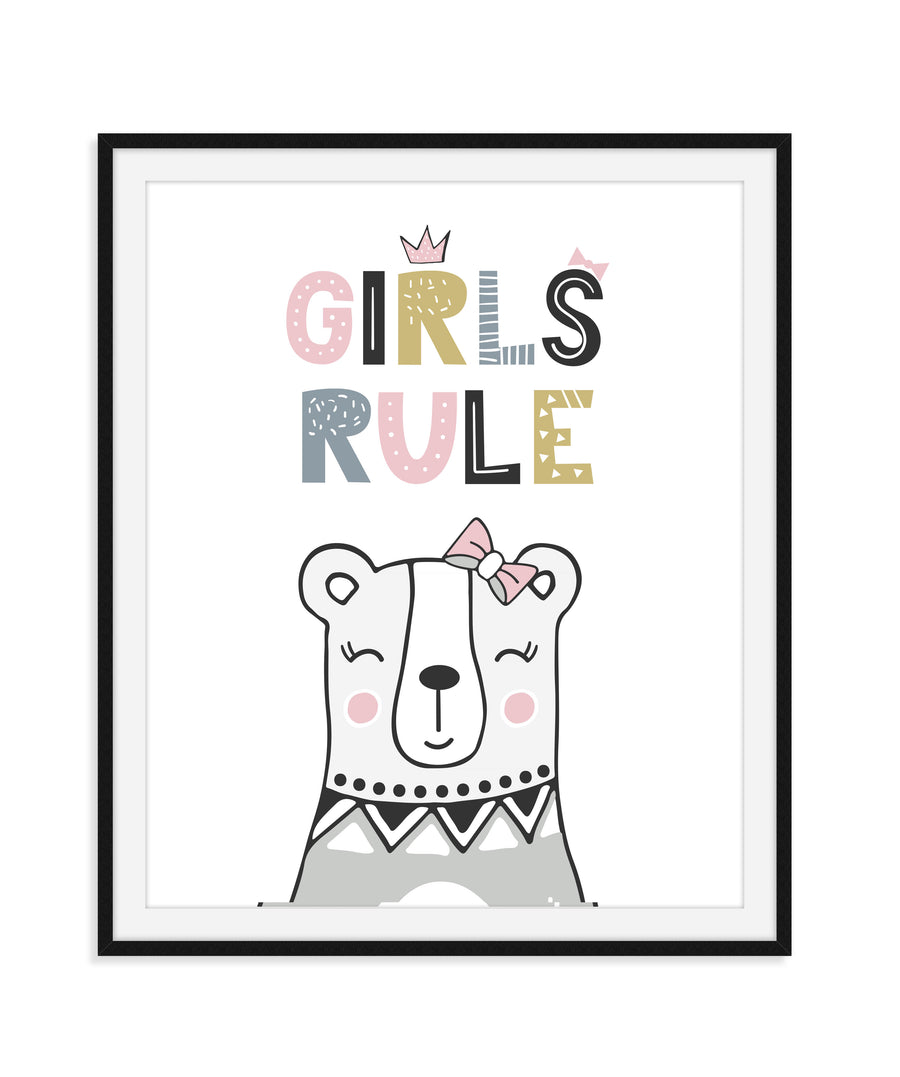 Girls Room Nursery Wall Art