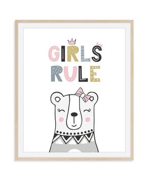Girls Rule Nursery Decor
