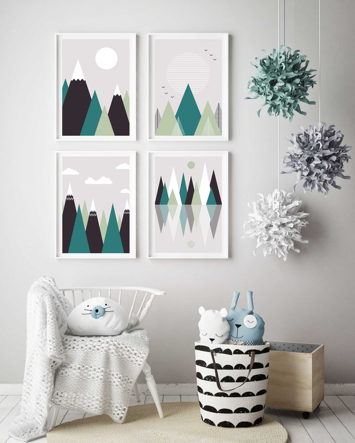 Mountain Nursery Room Prints