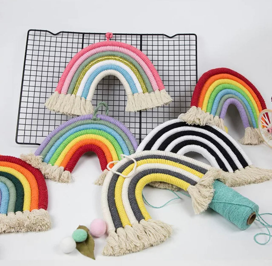 Rainbow Yarn Nursery Decor