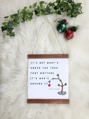 Charlie Brown Christmas Tree Sign