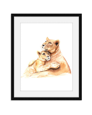 Mom and Baby Nursery Animal Prints