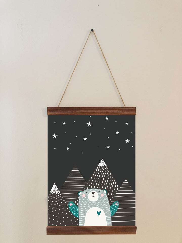 Nursery Bear Print Scroll